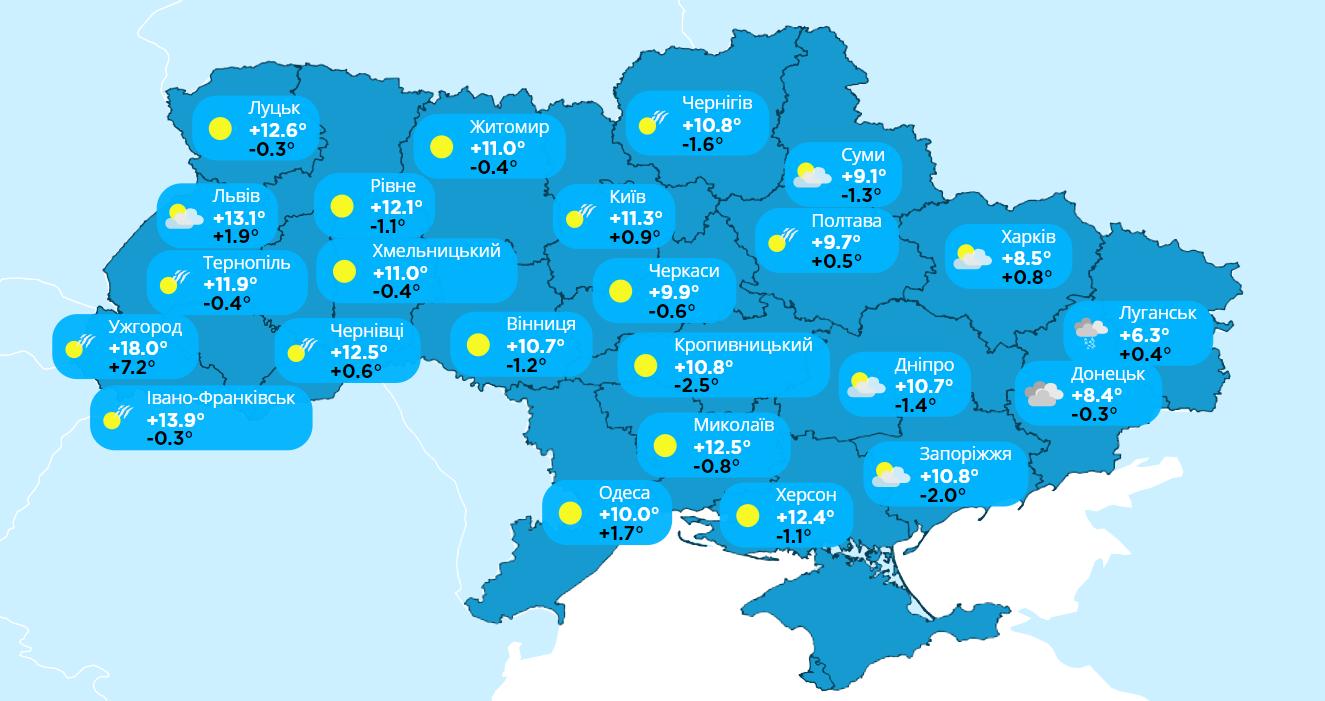 Прогноз погоды на 4 апреля согласно данным мониторинга «Метео Фарм»
